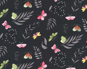 Michael Miller - Joy by Tamara Kate - Garden Tapestry - Dk Grey - Fabric by the Yard DC7797-GARD