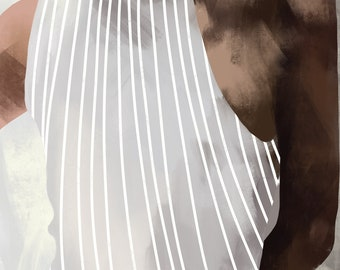 female figure, body bends, illustration of a girl