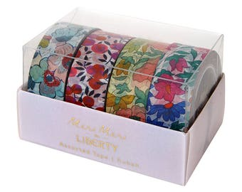 Liberty Tape, Floral Washi Tape, Meri Meri Liberty Floral Tape, Gift Wrap, Tropical Party Decor, Summer Party Decorations