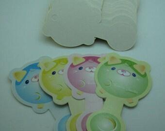 6 pcs children tags bear shaped box