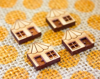 Laser Cut Supplies - Cherry Wood Mini Cottages | House Cottage |  Jewellery, Craft