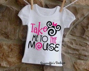 Take me to the mouse shirt, Minnie shirt, Mouse shirt, girls shirt, toddler shirt, trendy girls shirt, vacation shirt