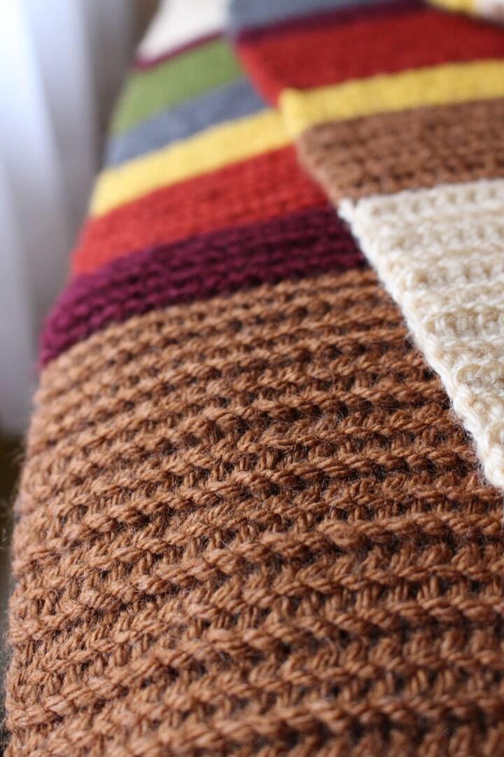 Handmade Crocheted 12 ft long full size Doctor Who 4th Doctor