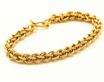 Bryce Brass Chainmaille Bracelet