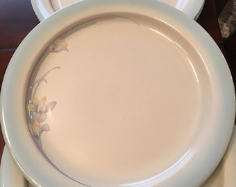 Noritake Rainbow End Dinner Plates - Set of 4 - Stoneware - Made in Japan