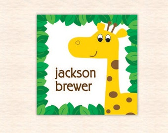 Giraffe Personalized Calling Cards - Printable File