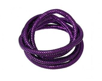 2 m cord 5mm purple disco ball