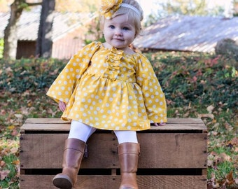 Fall outfits for girls - Gold - Fall Outfits - Polka Dots