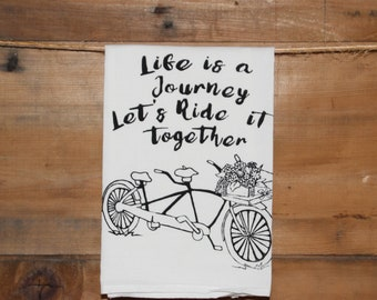 Tandem Bike Towel