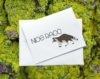 Greeting Card - Nice Racc