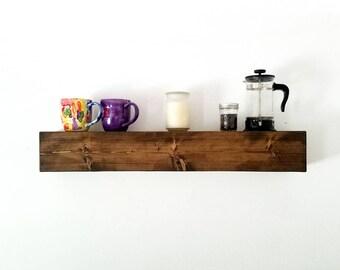 Floating Shelves | Wooden Shelves Floating | Floating Shelf | Farmhouse Decor | Rustic Shelves
