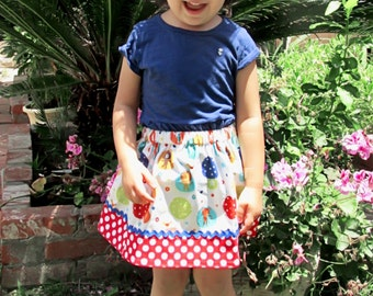 Circus Skirt  (18 mos, 2T, 3T, 4T, 5,6,7)