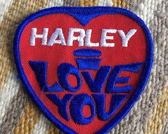 Vintage Harley Davidson I Love You patch