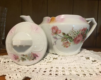 Tea Pot Bavarian Delicate Pink Flowers
