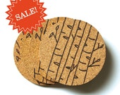 SALE - Winter Birch Cork Coaster Set