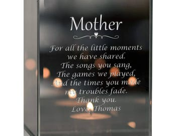 Engraved Thank you Mother Tealight Candle Holder