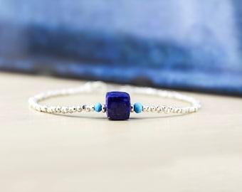 LAPIS LAZULI BRACELET/Lapis Bracelet/Turquoise Bracelet/Blue Lapis Bracelet/Tiny Lapis Bracelet/Lapis Jewelry/Blue Bracelet/Blue Jewellery
