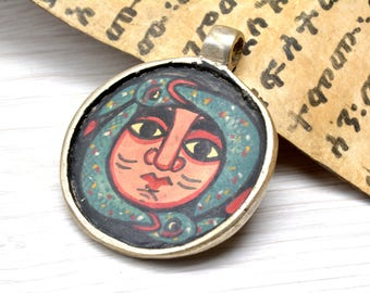 Icon pendant jewelry, Handmade ,silver Pendant , jewelry