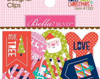 Holly Jolly Christmas Designer Clips by Bella Blvd, Paper clips