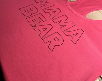 Mama Bear Hot Pink Tank