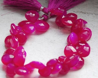 1/2 strand of hot pink chalcedony 24.50