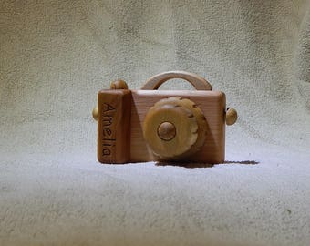Personalized camera toy Name toy Wood camera Kids Toy Camera Wooden toys Waldorf wood Сamera Gift for Kids
