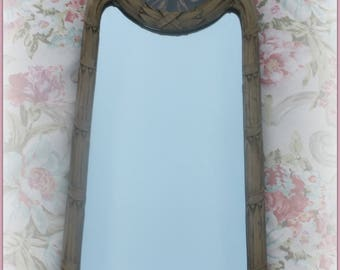 vintage French Trumeau ~Large 4 ft~ Victorian Mirror~ So Marie Antoinette!