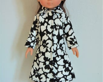 "Handmade Doll Clothes Coat fits 13"" Corolle Les Cheries Dolls Christmas E"