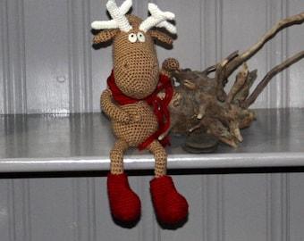 Reindeer, Christmas Reindeer, Rudolf, Santa, Plush, Softie, Christmas