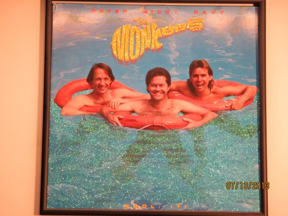 Glittered Record Album - The Monkees - Pool It!