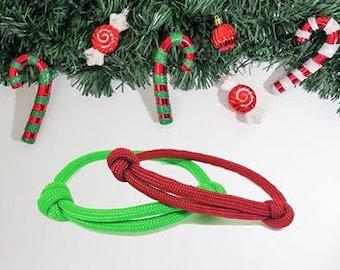 Red Bracelet, Green Bracelet, Boho Bracelet, Paracord bracelet, Wristbands
