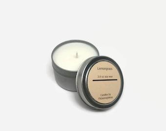 lemongrass candle, lemongrass scented candle, lemongrass soy candle, lemon candle tin