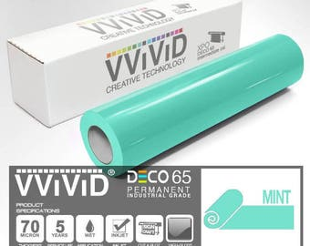 Contact Paper Craft Vinyl | Gloss Mint | For Cricut, Silhouette & Cameo Contact Paper Vinyl Adhesive Roll | VViViD DECO65
