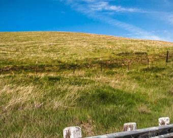 landscape california hills clouds road spring green blue decor fine art photography