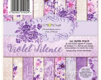 Lemoncraft Violet Silence 6x6 Designer Scrapbook Paper