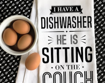 Funny Wife Gift, Gift for Wife, Funny Kitchen Towel