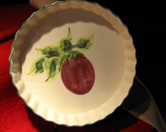 Serving Dish Decorative /Vintage Plum  Laurie Gates Designs/ Collectibles