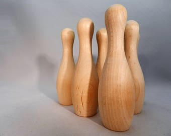 USA Made Wooden Bowling Pins