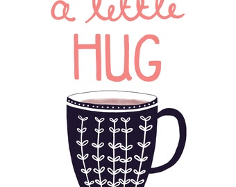 A Little Hug Greetings Card