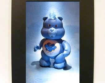 """Framed Care Bears Grumpy Bear Toy Photograph 5"""" x 7"""""""