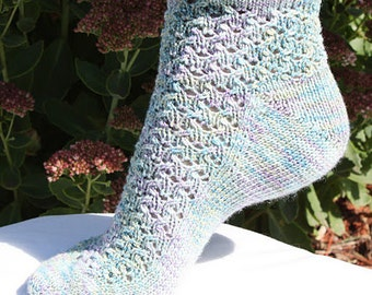 PDF PATTERN ONLY - Poppy Socks, Knitted Socks, Women's Socks, Knitting Pattern Download, Knitting Pattern pdf