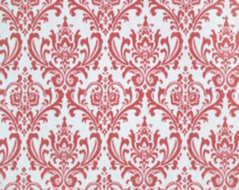 Premier Prints Madison Poppy Pink Damask Home Decorating Fabric By The Yard