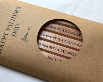 Crayons de charpentier personnalisés, fête des pères
