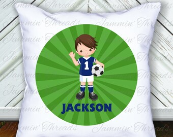 Personalized Throw Pillow/Soccer/Soccer room decor/Soccer gift/Soccer Player/custom pillow/keepsake gift/keepsake pillow/soccer keepsake
