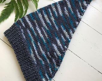 Winter knitted kerchief headband headscarf bandana