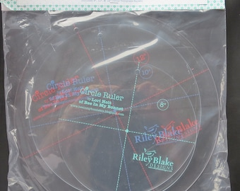 """Circle Ruler Set by Lori Holt For Riley Blake 8"""", 10"""" AND 12"""" Sizes With Retail Packing"""