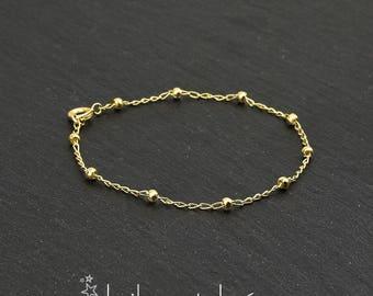 Satellite chain bracelet, 14K gold filled
