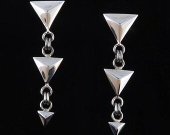Geo1 - Earrings - Sterling Silver