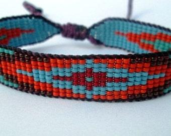 Huichol Native American Inspired Multi-Colored, Beaded Friendship Bracelet 105