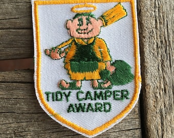 Tidy Camper Award Vintage Travel Souvenir Patch from Voyager